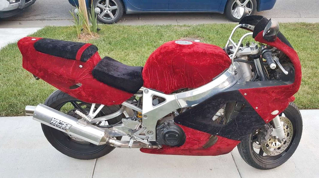 Motorbike Wrapped In Crushed Velvet For Sale On Craigslist Sgbikemart