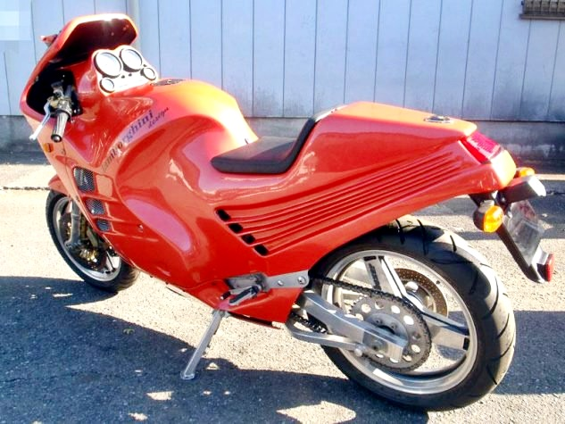 Rare Lamborghini Motorcycle In Its Classic Red Color Fails To Be